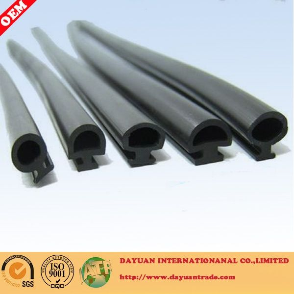 Partition rubber sealing strip